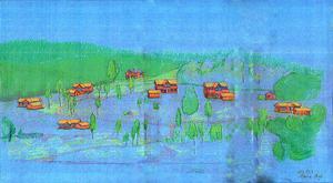 Planerna för husbyggena i Fuske får nu lämnas. Bild: Illustration:  Monica Boy