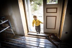 Ewan Kaya får än så länge tassa försiktigt i byggarbetsplatsen som snart ska bli hans hem.