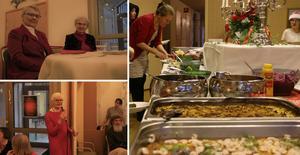 Julfirandet i Mikaelskyrkan bjöd på allt ifrån god mat och dans till Kalle Anka-visning.