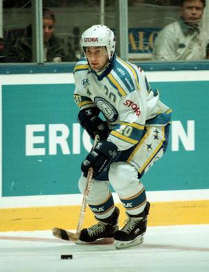 Stefan Hellkvist i Leksandströjan hösten 1997. Foto: Bildbyrån.