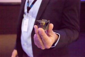 Den här fräsen har 3D-printats vid enheten för additiv tillverkning i Sandviken. Den är 60 procent lättare än en konventionell fräs.