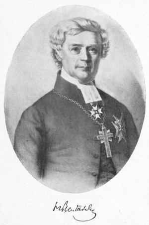 Henrik Reuterdahl, ärkebiskop och ledamot i Svenska Akademien.  Okänd konstnär.