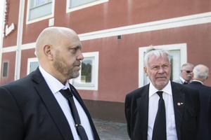 Pontus Hugosson, till vänster, tog över som ordförande i Pappers efter Matts Jutterström. Riksdagsledamot Peter Persson, var bekant med Jutterström ända sedan tiden i SSU.
