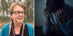 """""""Det är viktigt att man försöker prata om det här annars blir det så mycket onödigt lidande,""""säger  Maria Larsson, ordförande för anhörigföreningen i Åre.  Fotomontage: Privat/TT"""