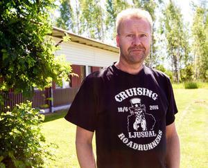 Jörgen Jansson, Roadrunners Ljusdals ordförande, ser fram emot lördagens 25:e Summermeet