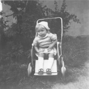 Margaretha, cirka 2 år. Foto: Privat