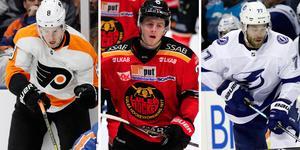 Tre backar med NHL-kontrakt. Bild: TT