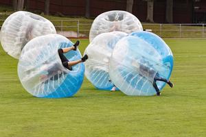 Bumberball var en av de populäraste idrotterna under Idrottens dag. Foto: Lennye Osbeck