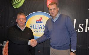 Andreas Strandroth, tillträdande vd och Jonas Estéen,styrelseordförande Siljans Chark.