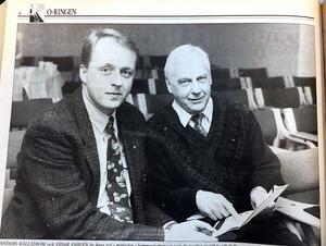 ÖA 15 april 1994. Kommunalråden Anders Källström och Vidar Fahlén.