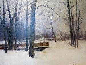 Trädgårdskonst av Carl Georg Sehlberg: Stadsträdgården i Gävle 1893 (detalj).