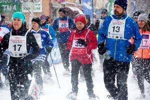 Siljan Snowshoe Race är en av huvudattraktionerna under snöskofestivalen.