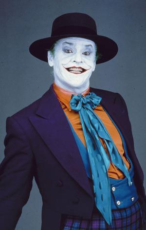 Jack Nicholson som Jokern i Tim Burtons film