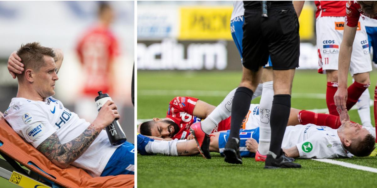 """Spelarna knockades – svimmade och utburen på bår: """"En jävligt hård smäll"""""""