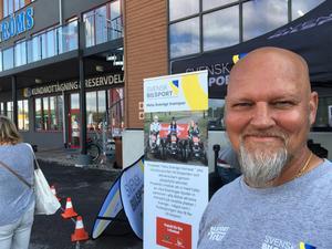 Krister Mykkälä från Svensk bilsport var på plats för att locka fler att bli intresserad av bilsport.