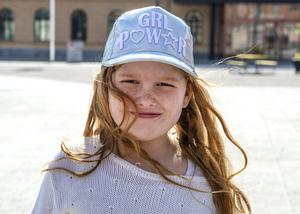 Mikaela Sjödin, 8 år, elev, Sundsvall
