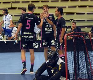 Emil Ruud, Malte Lundmark och Alexander Hallén svarade tillsammans för fem av IBF Faluns sex mål i segermatchen mot Chodov.