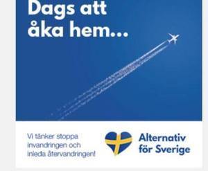 Annons som Alternativ för Sverige  gick ut med under förra året.