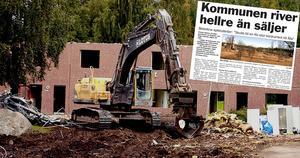 Redan för tio år sedan höjdes medborgarröster om kommunens beslut att riva bostäder, då på Åsgatan i Ånge.
