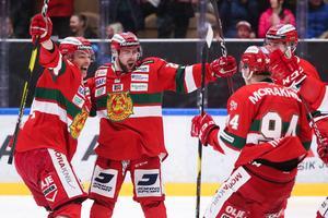 Oskar Svanlunds mål mot Leksand var hans andra fullträff den här säsongen. Foto: Daniel Eriksson/Bildbyrån