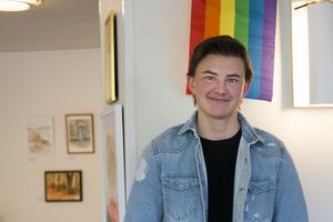 Leon Reuterström i samband med föreläsningen på biblioteket i Söderhamn i juni 2019.