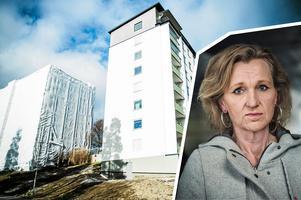 Kostnaderna för Telge bostäders renovering i Fornhöjden har skenat. Boel Godner (S) är ordförande i både kommunstyrelsen och Telge AB. Foto: Diana Savina och Yvonne Åsell/TT