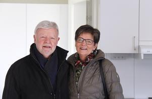Torgny och Kerstin Andersson ska flytta in i en trea och de var nöjda med första anblicken av den nya bostaden