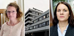 Nina Orefjärd och Isabell Mixter (V) frågar efter ledarskap i Region Västernorrland.