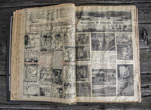 Hilding Mickelsson gjorde flera hundra tidningssidor till Ljusnan. Han skrev, fotograferade och ritade upp sidorna för hand.