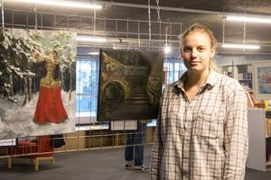 Fiona Harder fick ett tips från sin lärare på Kävesta folkhögskola om att söka till Länets konsts nya ungdomsdel.