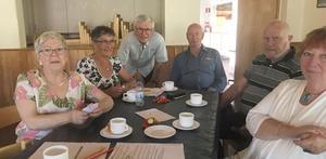Nöjeskommittén med Maud Nilsson, Margaretha Jonsson, Stefan Lindström, ordförande Göran Holm, Kurt Persson och Britt Ling. Foto: Elisabet Yngström
