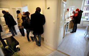 Efter flera års stark prisökning på bostadsrätter  i Sundsvall kom nu en kraftig nedgång under december–januari. Tillfällig?Det visar sig under våren. Bild: Tomas Oneborg , SvD