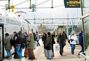 Tågstationen i Hallsberg