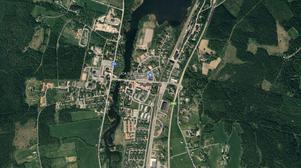 Väg 321 mellan skolan och Svenstavik S kommer att stängas helt under vägarbetet. Foto: Skärmdump Google Maps