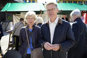 Tommy och Marianne Nilsson besökte Bondens egen marknad.