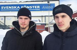 Tommi och Tuomas Määttä, tvillingarna som nu även har sin pappa Esa i elitserien.