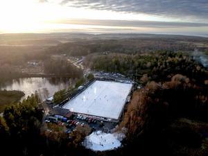 Sjöaremossen, arenan mitt i skogen. Bild: Adam Ihse/TT