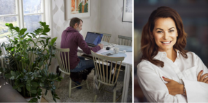 Rekordmånga i Dalarna jobbar hemma – många av dessa har stora utmaningar. Krafttag krävs, skriver Regina Donato-Dahlström. Foto: TT