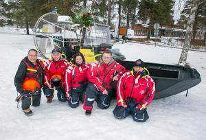 Pelle Mäcs, TonyOllinger, Petra Wiklund, Pär Näs och Stefan Östling är några av dem som kommer vara besättning på hydrokoptern.