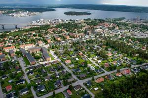Satsa mer på södra sidan av Sundsvall, är signaturen Pelos uppmaning. Bild: Jan Olby