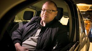 Johan Flarke blev fast i i bilköerna på E4 i flera timmar.