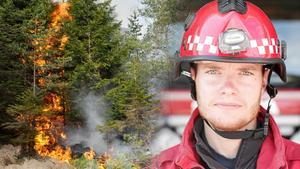 Enligt Johan Szymanski jobbar den regionala staben nu med att inventera vilka skogsbrandresurser som finns i länet. Bilden är ett montage. Foto: TT/Arkiv