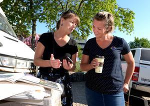 Anita Johansson och Mia Berglund från Värnamo kommun.