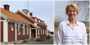 Bygdegården är öns samlingspunkt. Sommarkaféet erbjuder hembakt kaffebröd och, precis som alltid, Oaxenmackan med ägg, sill och potatis, säger Kerstin Holm.