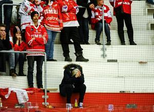 Efter matchen mot Leksand stod det klart att Timrå  åkte ur Elitserien. Foto: Robin Nordlund / SCANPIX