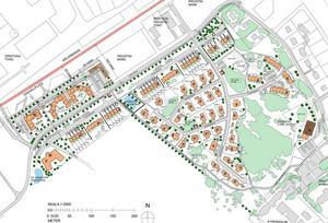Karta över det planerade området i Dingtuna. Bild: Hans Rönnbäck