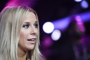 Krista Siegfrids efter fredagens generalrepetition inför Melodifestivalens tredje deltävling.