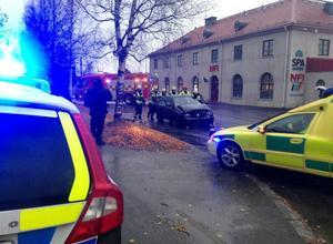 Demolerade bilar på Rådhusgatan, men inga personskador.