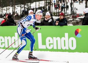 Emil Thyrén tävlade för moderklubben Trönö IK under SM i Söderhamn 2017.
