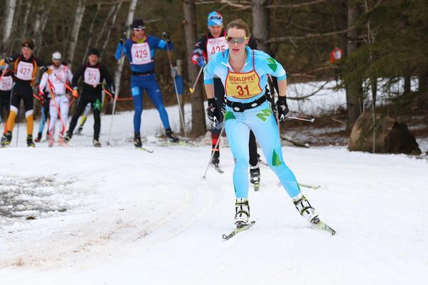 Alice Flanders vann det amerikanska Vasaloppet 2017. Foto: Bruce Adelsman/skinnyski.com
